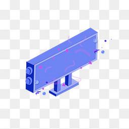 蓝色装饰图形电商透明图