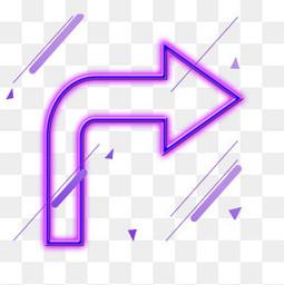 电商紫色装饰箭头