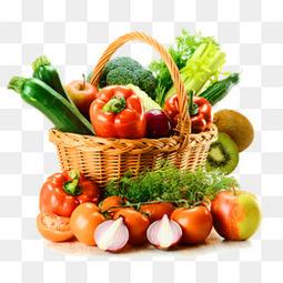 精美清新水果蔬菜篮子