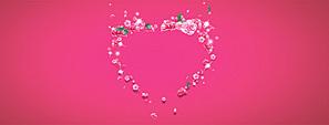 感恩节母亲节心形花环背景