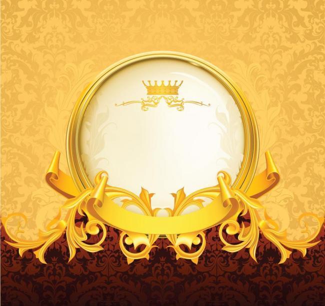 金色花纹边框图片  金色花纹边框 华丽欧式花纹 金色 边框 花边 古典