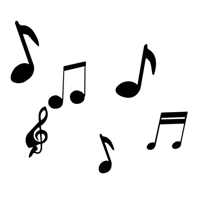 黑白 简约 音乐 音符 钢琴 符号 五线谱 psd 素材 白色
