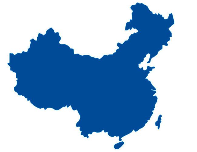 中国地图矢量图蓝色矢量图中国图片模板素材免费下载