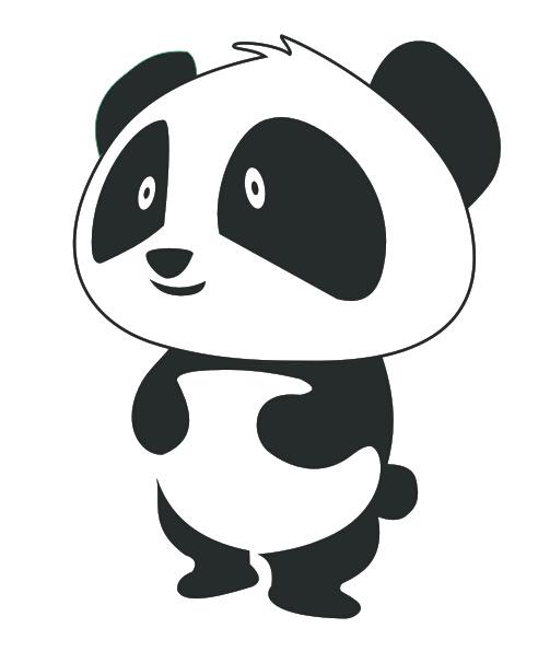 卡通熊猫矢量图