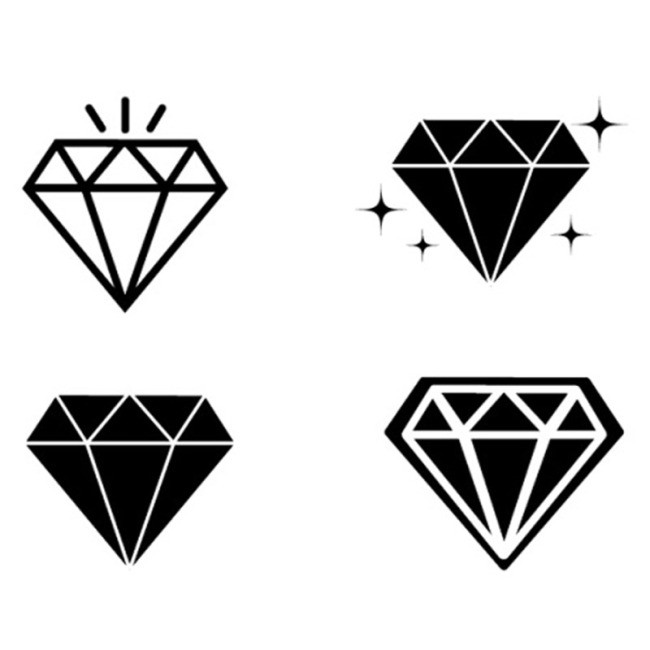 搜图中国提供独家原创4款钻石矢量图下载,此素材图片已被下载3725次