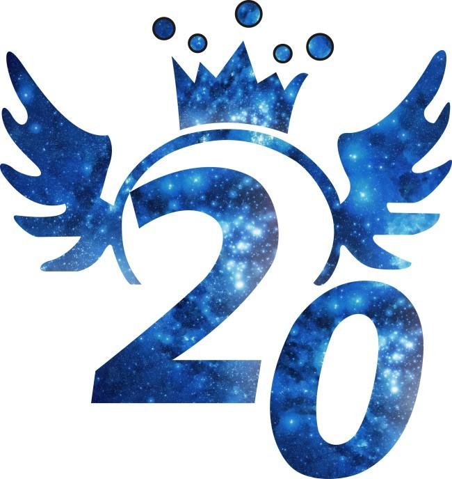 > 星空聚会矢量素材  数字 翅膀 星空 20年 聚会图案 校园 班服 cdr