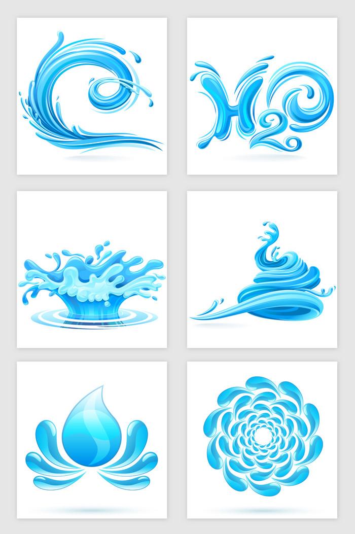 搜图中国提供独家原创浪花水滴装饰矢量素材 下载,此素材图片已被下载