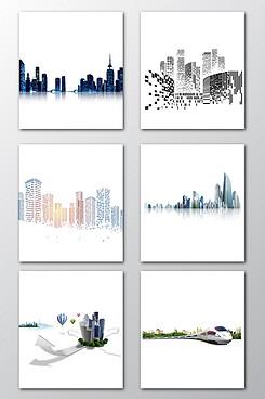 城市建筑图案元素