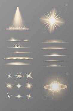 炫彩光束素材矢量