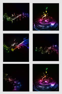 彩色音乐素材设计