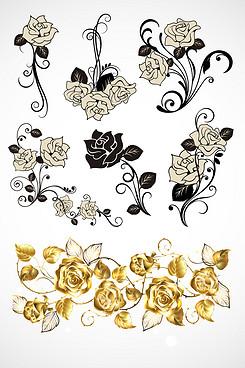 金色的玫瑰花